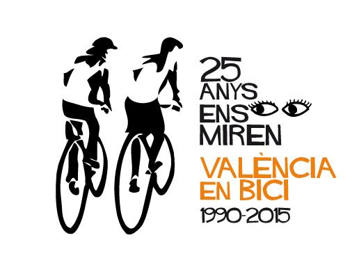 Logo del 25 aniversario de València en Bici