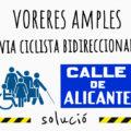 Cartel de la acción en el Carrer d'Alacant
