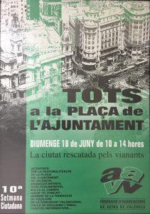 Cartel 'La ciutat rescatada pels vianants'