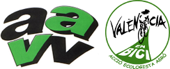 Logos Federación de Asociaciones de Vecinos y Vecinas de València y València en Bici